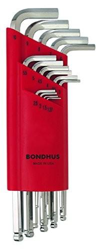 Bondhus Briteguard Winkelschlüssel-Satz 15-llg.