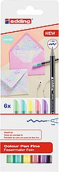Edding 1200/6 S Fasermaler set pastell