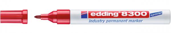 Edding 8300 Permanentmarker industry rot