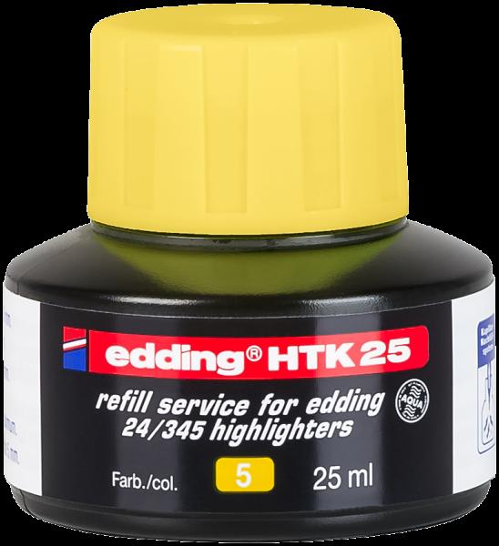 Edding HTK 25 Nachfülltinte Textmarker gelb