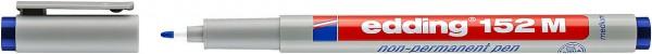 Edding 152 M Non-permanenter Folienschreiber blau