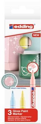 Edding 751/3 S creative Glanzlack-Marker set pastell