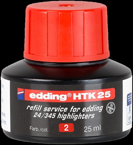 Edding HTK 25 Nachfülltinte Textmarker rot