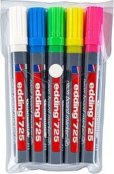 Edding 725/5 S neon board marker set