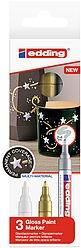 Edding 751/3 S creative Glanzlack-Marker set metallic