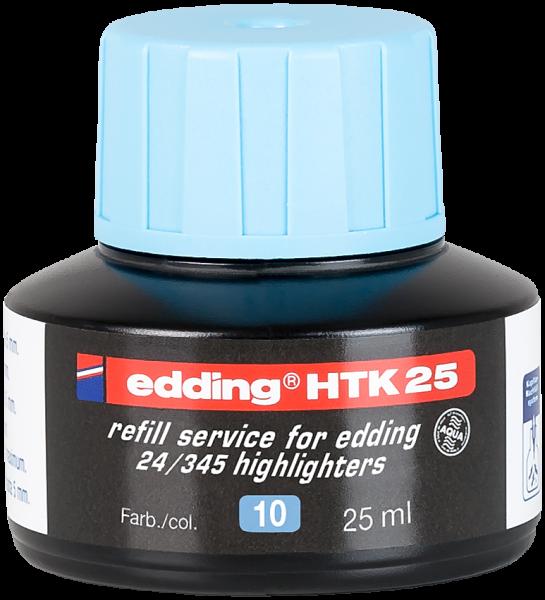 Edding HTK 25 Nachfülltinte Textmarker hellblau