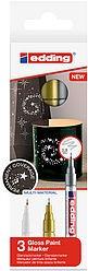 Edding 780/3 S creative Glanzlack-Marker set metallic