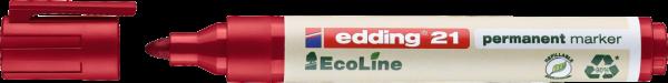 Edding 21 EcoLine Permanentmarker rot