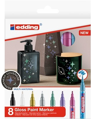Edding 751/8 S creative Glanzlack-Marker set metallic