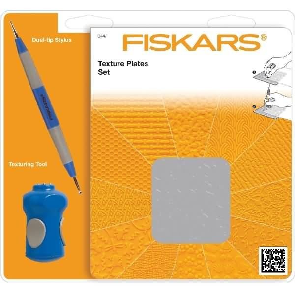 Fiskars Prägeplatten Set sortiert
