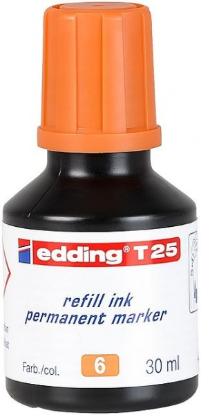 Edding T25 Permanentmarkertusche orange 30ml