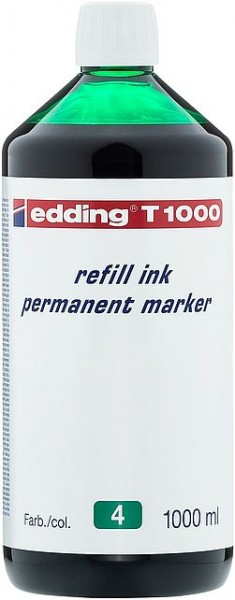Edding T1000 refill ink perm. marker grün