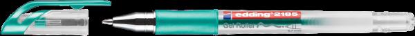 Edding 2185 Gel Roller grün-metallic