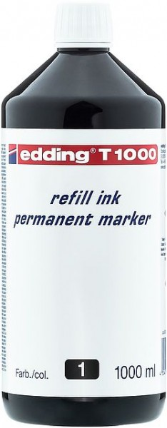 Edding T1000 refill ink perm. marker schwarz