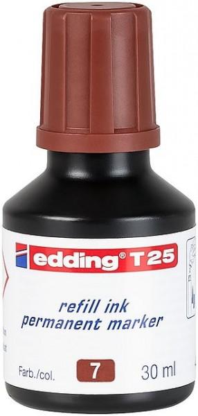 Edding T25 Permanentmarkertusche braun 30ml