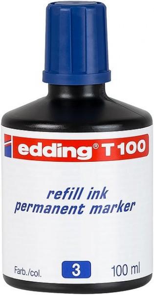 Edding T100 refill ink perm. marker blau