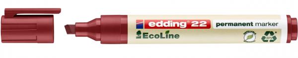 Edding 22 EcoLine Permanentmarker rot
