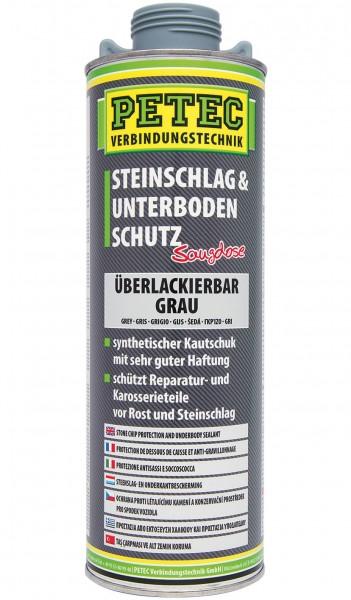 Petec Steinschlag- & Unterbodenschutz Kautschenbasis grau, 1000ml