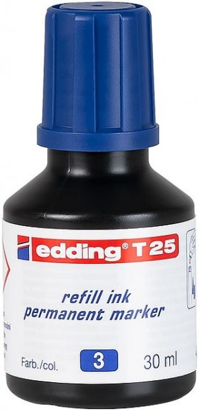 Edding T25 Permanentmarkertusche blau 30ml