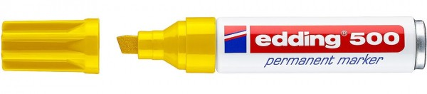 Edding 500 Permanentmarker gelb 2-7mm