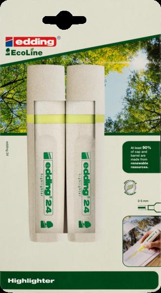 Edding 24/2 BL EcoLine Textmarker gelb