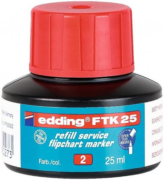 Edding FTK 25 Nachfülltinte rot