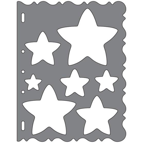 Fiskars ShapeCutter Schablone - Sterne