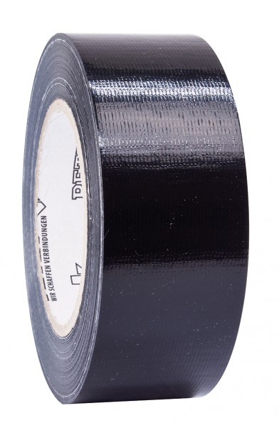 Petec Uni-Gewebeband schwarz 50m