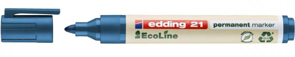 Edding 21 EcoLine Permanentmarker blau