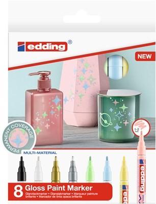 Edding 751/8 S creative Glanzlack-Marker set pastell