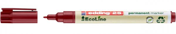 Edding 25 EcoLine Permanentmarker rot