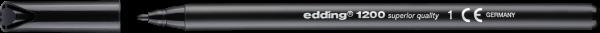Edding 1200 Fasermaler schwarz 0,5-1,0mm