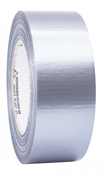 Petec Uni-Gewebeband silber 50m