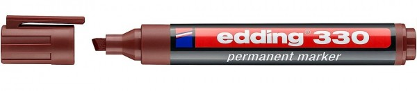 Edding 330 permanent marker A8 braun