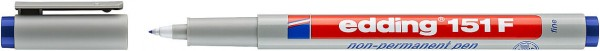 Edding 151 F Non-permanenter Folienschreiber blau