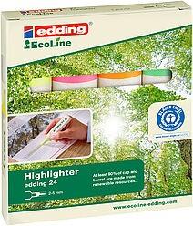Edding 24/4 S EcoLine Textmarker set