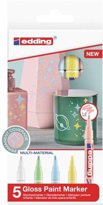 Edding 751/5 S creative Glanzlack-Marker set pastell