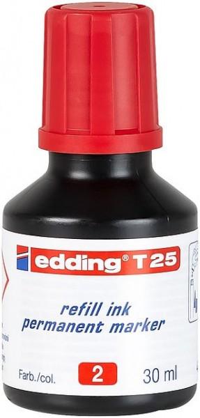 Edding T25 Permanentmarkertusche rot 30ml