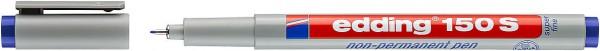 Edding 150 S Non-permanenter Folienschreiber blau