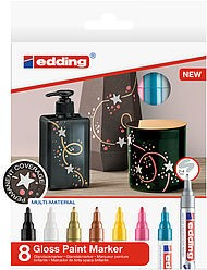 Edding 750/8 S creative Glanzlack-Marker set