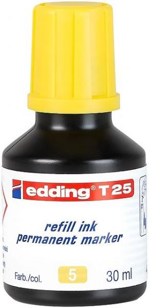 Edding T25 Permanentmarkertusche gelb 30ml