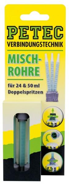 Petec Mischrohr 24ml Doppelspritze, 50ml Doppelkartusche, 3 Stk, SB-Karte