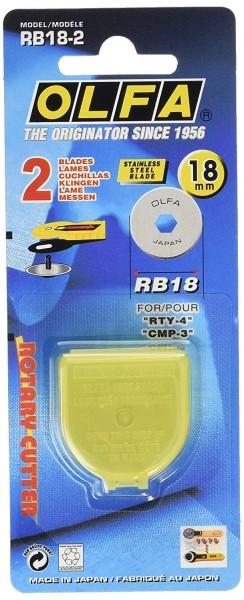 OLFA Rundklinge RB18 18mm 2er Pack