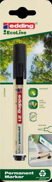 Edding 21 EcoLine Permanentmarker schwarz (in Blister)