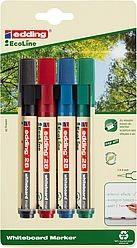 Edding 28 EcoLine Whiteboardmarker 4Stk. sortiert (in Blister)