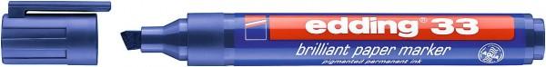 Edding 33 Brilliant-Papiermarker blau