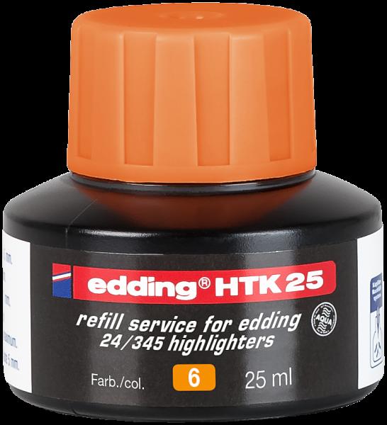 Edding HTK 25 Nachfülltinte Textmarker orange