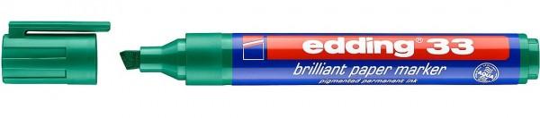 Edding 33 Brilliant-Papiermarker grün