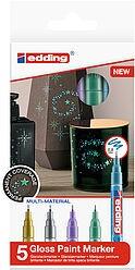 Edding 780/5 S creative Glanzlack-Marker set metall. special